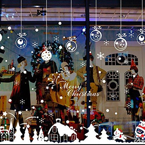 ZARU Cabina de Navidad la decoración del hogar de vinilo ventana pegatinas de pared decorativos★extraíble★