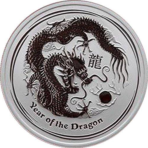 2012Jahr des Drachen Hälfte Unze Silbermünze von der Perth Mint -