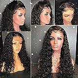 Riya Haar 100% unverarbeitetem brasilianisches Echthaar Perücken 8A Jerry Gelockt klebefreien Lace Front Perücken Remy Haar mit Baby Haar Full Nagelhaut