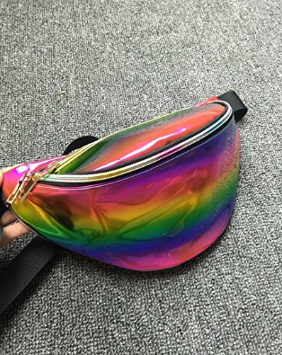 La Haute Fashion Taille Packungen Running Gürtel Wasserdicht Fanny Packungen Bauchtasche regenbogenfarben