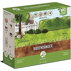 Plantura Bio Rasendünger Langzeitwirkung | für sattgrünen Rasen Ohne Moos | 100% tierfrei & Bio-Zertifiziert | Gut für Den Boden | unbedenklich für Haus- & Gartentiere | Naturdünger | NPK 8-1-6 (3)