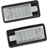 License Number Plate Light Lamp 2Pcs 18 Full LED Error Free Waterproof Rear Lamps Assembly for A3 8P S3 A4 B6 B7 A6 S6…