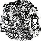 greestick Sticker Bomb Set Schwarz/weiß 60 Stk Aufkleber Stickerbomb für Auto Skateboard Helm Longboard Laptop Snowboard Vinylaufkleber Gepäck Decals