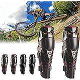 calistouk moto rodilla rrotector, adultos rodilla Shin equipo de protección guardias almohadillas para cuerpo Armor para Bicicleta de carreras de motocicleta Motocross 2pcs Set, Black + Red