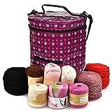 Premium Large Knitting Tote Bag - Garn Aufbewahrungstasche für ultimative Organisation von Häkeln und Stricken Garn