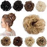 Postiche Chignon Bouclé Extension Cheveux Réparation Rapide Pour Une Mauvaise Coupe de Cheveux [Blond Foncé Ombre Ash Blond]