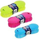 Homo Trends 3 cepillos de cerdas rígidas para limpiar y fregar suelos, alfombras, cocina, baño y lavado (color aleatorio)