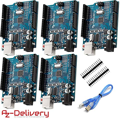 AZDelivery 5 x Mikrocontroller Board mit USB-Kabel inklusive E-Book!