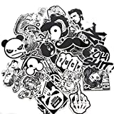 Modou Stickers [240 pcs], Black White Graffiti Vinyl Stickers for Laptop Cars Motorcycle Bicycle Skateboard Luggage Bumpers Helmet Window Cellphone notebook Guitar Skateboard Snowboard Wall Decals