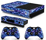 GNG Xbox One Electric Storm Console Skin Decal Sticker + 2 Xbox One Controller Skins & Kinect