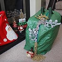 Yuzet Heavy Duty decorazioni albero di Natale + Borsa con Zip e manici