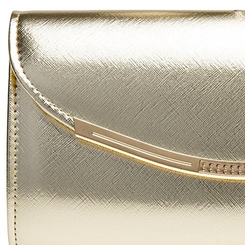 CASPAR Fashion, Poschette giorno donna Gold