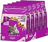 Whiskas Katzenfutter Trockenfutter Senior für ältere Katzen ab 7 Jahre mit Lachs (5 x 800g)