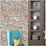 stickers muraux ,Moonuy 40*320cm mur en pierre de brique de papier d'effet rustique...