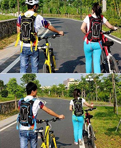 SHTH Damen Herren Wasserdicht Fahrrad Rucksack Outdoor Sportrucksack Rucksack 18L Gelb