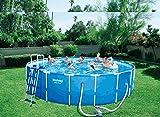 Runder Pool 366x 122+ Motor Wasser Meer Strand Garten Sommer bes097
