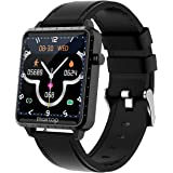 Smart Watch for Men Women, Fitness Tracker with blood pressure monitor and Sleep tracking, heart rate watch with music contro