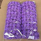 Woopower, künstliche Schaumstoffrosen, 2,5cm, für Blumensträuße, Bastelarbeiten, Hochzeiten, Partys, Hausdekoration, 144 Stück, violett, Free Size