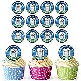 Real Madrid fútbol camisas 30personalizado comestible cupcake toppers/adornos de tarta de cumpleaños–fácil troquelada círculos