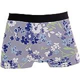 Slip Boxer da Uomo Bella Biancheria Intima Fiore Carino da Uomo Tronchi Elasticizzati Traspiranti Bulge Pouch Soft Underpants