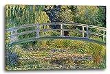 Claude Monet - Japanische Brücke über den Seerosenteich (1899), 80 x 60 cm (weitere Größen verfügbar), Leinwand auf Keilrahmen gespannt und fertig zum Aufhängen, hochwertiger Kunstdruck aus deutscher Produktion (Alte Meister bis Moderne Kunst). Stil: Impressionismus