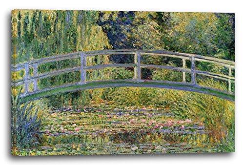 "WANDKINGS Leinwandbild Claude Monet /""Seerosenteich und japanische Brücke/"""