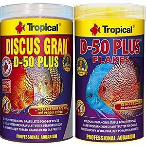 Tropical 1 Liter Discus Gran D - 50 Plus + 1 Liter Discus Flocken D- 50 2 er...