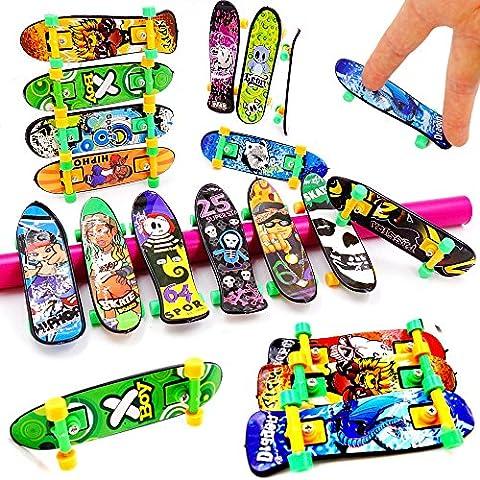 German Trendseller® - 24 x skateboard pour doigt ┃fingerboard ┃mini