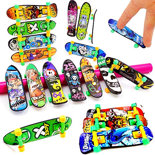 German Trendseller - 24 x Fingerskateboard - für Kinder - NEU - ┃Kindergeburtstag ┃ Mitgebsel ┃ 24 Stück