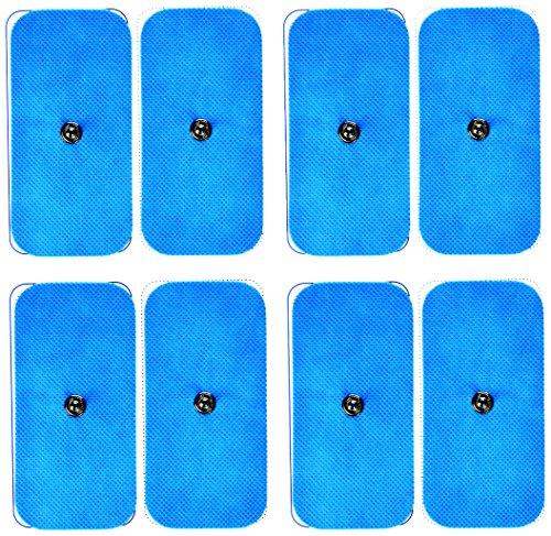 Bluetens ELEC0801 Electrodos TENS/EMS, M8, Pack Azul, 8m