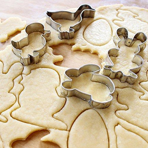 24er Ausstechformen Ostern Set aus Edelstahl – Plätzchen Ausstecher, Ausstechform, Keksausstecher & Osterausstechformen mit verschiedenen Oster Motiven – ideales Ostergeschenk & für Osterplätzchen