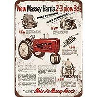 1953massey-harris trattori vintage look Reproduction metal Signs 30,5x 40,6cm