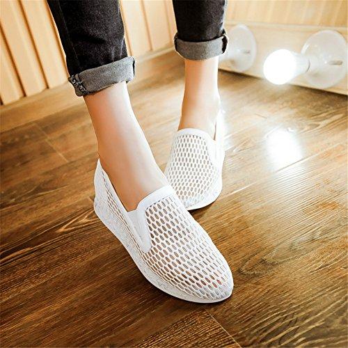 Cuckoo Meched Summer Mocassins Chaussures Femme Blanc