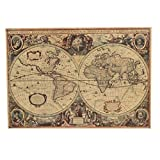 Bluelover Retro Kraft Papier 1641 Anciens Navigation Mappemonde Home Decor