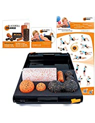 Blackroll Orange (Das Original) DIE Selbstmassagerolle - SMR-Set MED inkl. Koffer, Übungs-DVD, -Poster und -Booklet