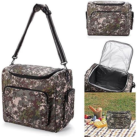 MaMaison007 Al aire libre aislado nevera bolsa Pack Picnic alimentos almuerzo almacenamiento caja Camping Senderismo viajes
