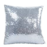 Best Pillowcase Modern Fantasy Sofas - JOTOM Solid Color Glitter Sequin Home Decor Pillow Review