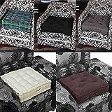 Homescapes Cojín elevador para sillón, relleno de poliéster y tapizado en 100% algodón, 50 x 50 x 10 cm, patrón escocés verde