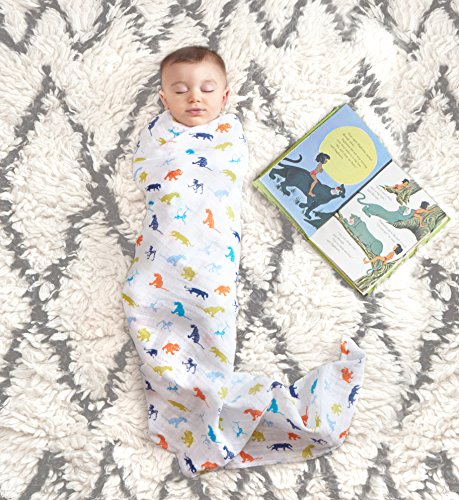 aden + anais DISN101G Classic swaddle jungle book, 4 pack