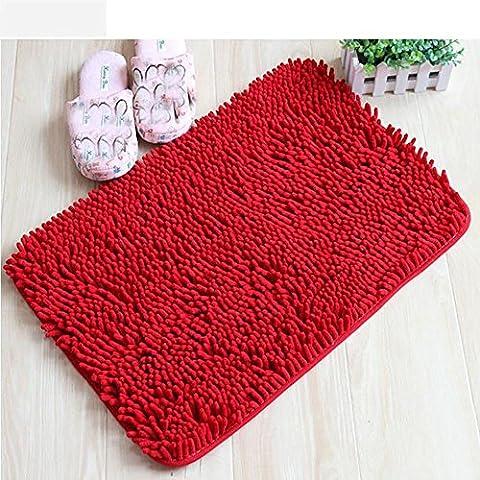 New day-Comodini camera da letto di Square tappeto bagno materasso tappeti stuoie bovindo , red , 80*120cm