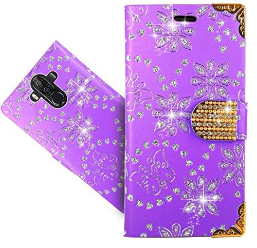 Ulefone Power 3 / Power 3S Handy Tasche, FoneExpert® Wallet Case Cover Bling Diamond Hüllen Etui Hülle Ledertasche Lederhülle Schutzhülle Für Ulefone Power 3 / Power 3S