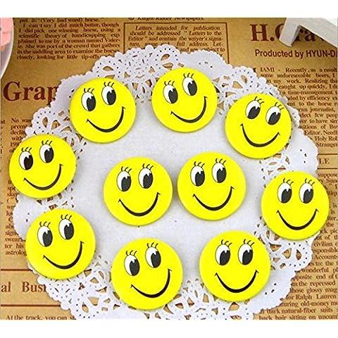 Nuevos 50Pcs de la sonrisa de la cara de la insignia del botón del perno broches sonriente de la cara de la sonrisa los ojos abiertos diversión divisa del perno de la sonrisa de la Ley de regalo de los cabritos del camarero