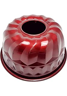 Meinposten Backform Gugelhupfform Weiß Rot Keramikbeschichtung 23 Cm  Anti Haft B Ware