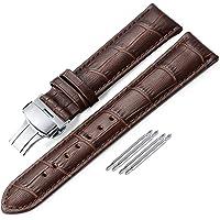 iStrap Cinturini Per Orologio In Pelle - Motivo A Coccodrillo - Cinturini Per Orologio Per Uomo Donna - Fibbia…