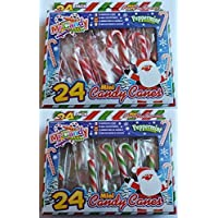 24 Mini Candy Canes - Christmas Stocking Filler - Christmas Party Bags (PM53) by My Candy - Mini Gift Bag