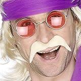 60er 70er Jahre Bart Kunstbart Blond Moustache Bart blonder Faschingsbart Hippie Schnurrbart Hippiebart Schnäuzer Schnauzbart
