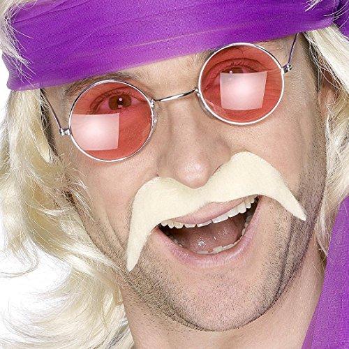 (NET TOYS 60er 70er Jahre Bart Kunstbart Blond Moustache Bart blonder Faschingsbart Hippie Schnurrbart Hippiebart Schnäuzer Schnauzbart)