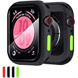 Compatible with Apple Watch Case with Screen Protector 44mm Series 4 Series 5 Series 6 Series SE, Beautyshow Overall Protecti