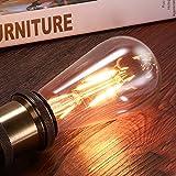 LED Glühbirne, AVAWAY E27 Vintage Glühbirne Edison Glühlampe Retro Led Lampe Leuchtmittel für Deckenleuchte Hängelampe Haus Café Terasse Dekoration, Warmweiß (80W)
