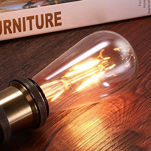 LED Glühbirne, AVAWAY E27 Vintage Glühbirne Edison Glühlampe Led Leuchtmittel für Deckenleuchte...